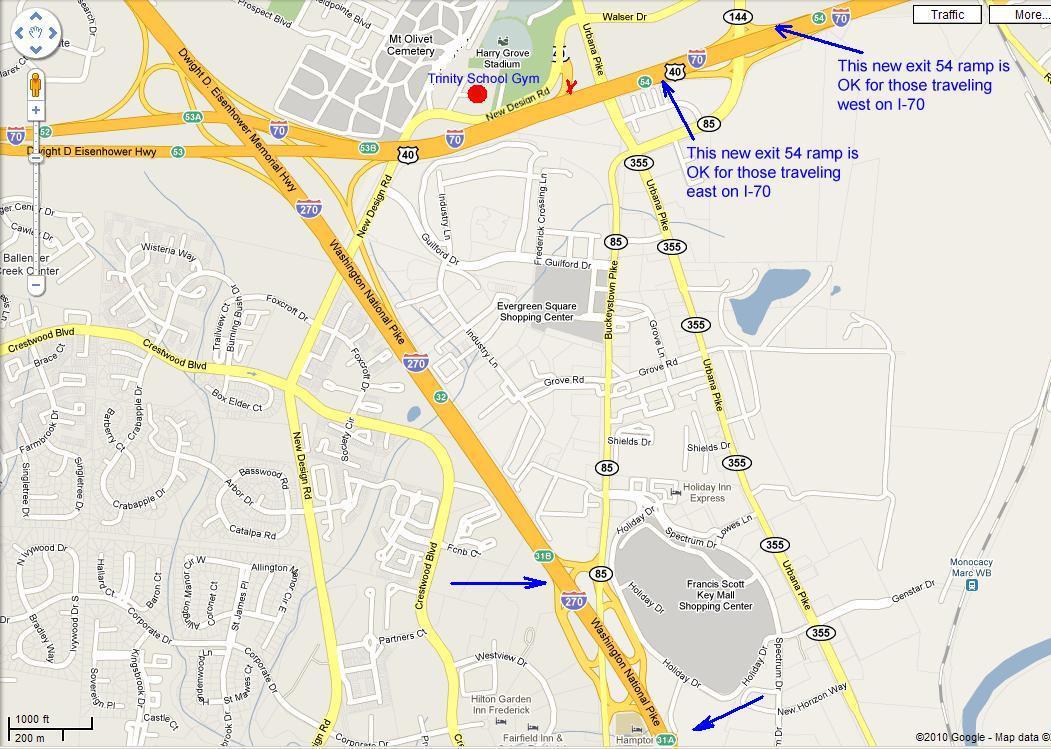 Frederick Maryland Map Bnhspine Com
